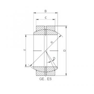 260 mm x 370 mm x 150 mm  ISO GE260DO-2RS paliers lisses