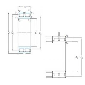 220 mm x 300 mm x 80 mm  SKF NNCF4944CV roulements à rouleaux cylindriques