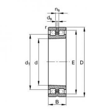 200 mm x 310 mm x 82 mm  FAG NN3040-AS-K-M-SP roulements à rouleaux cylindriques